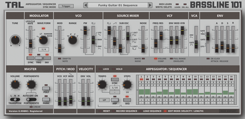 Togu Audio Line TAL-BassLine-101 v1.60 WiN/MAC